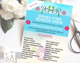 Floral Craft Show Flyer, Arts and Crafts Advertising, 8.5x11 Flyer, Shopping Event, Direct Sales, Marketing Flyer, Vendor Fair, Digital File