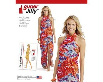 Sewing Pattern for Misses' Super Jiffy Cover Up in Two Lengths, Simplicity Pattern 1100, New Pattern, 1970's Vintage Pattern Reprint,