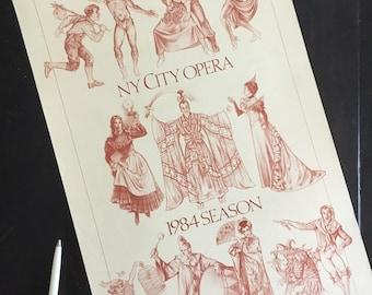 NY City Opera Poster, 1984