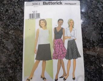 Butterick 3061 misses' skirt pattern