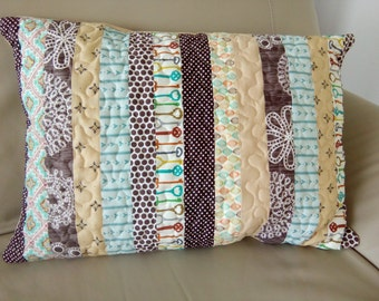 Patchwork Sham matching the Quilt/ Patchwork Cushion / Patchwork Pillowcase /Quilted Pillow / Decorative Pillow/ Patchwork Throw