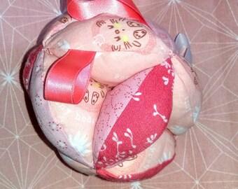 """Cute Hedgehog prehenssion ball Montessorie""""rose"""""""