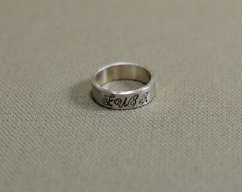 Fu'k You Fancy Sterling Silver Ring