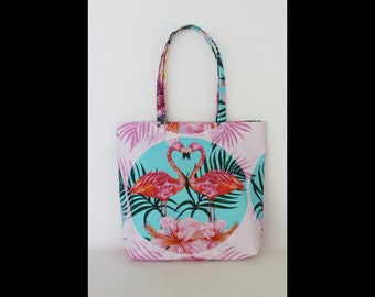 Beach Bag,Totes,Flamingo Totes Bag,Summer,Flamingo print,Totes,Gift for Girlfriend,Gift For Woman, Beachwear, Summer Accessorize,Summer 2018