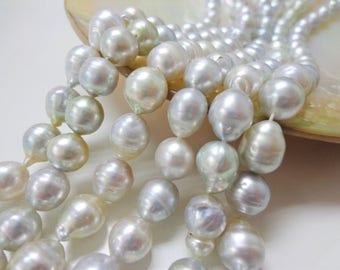 7-9mm White Baroque South Sea Pearl Necklace