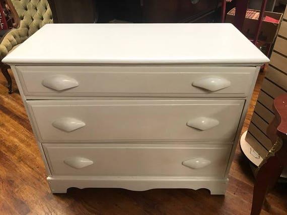 White small dresser three drawers