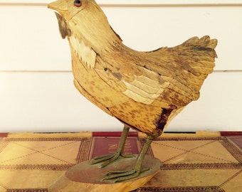 Tramp Art Folk Art Chicken
