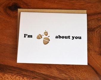 I'm Nuts About You Cut Out Card