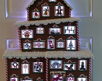 Christmas Gingerbread Advent House