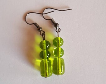 Earrings murano glass beads