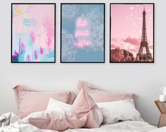 Gallery Wall Prints Set Of 3 Art Print Fine