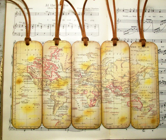 Historical world map bookmarks gifts for him set of 5 british historical world map bookmarks gifts for him set of 5 british possessions in red old map bookmark map gifts for map collectors gifts for men gumiabroncs Images
