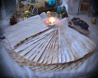 20 Sheets of Parchment / Blank Book of Shadows Pages / Magick Spell Stationary / Plain Petition Paper / Witchcraft BOS Pages