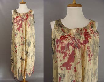 Zombie NIghtgown. Zombie Grandma Costume. Custom Made Bloody Distressed Granny Nightgown. Zombie Halloween Costume. adult size L Large to XL