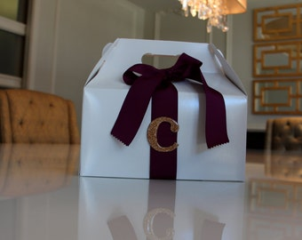 Initial with Ribbon Gift/Gable Box