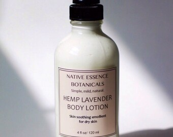 Lavender Body Lotion - Hand and Body Lotion - Hemp Lotion - Hand Cream - Body Cream - Natural Lotion - Natural Skin Care - Bath and Body