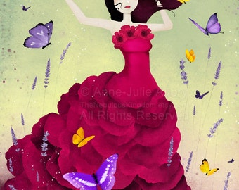 Mariposa - open edition print - Whimsical Art