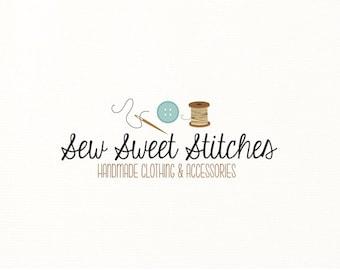 sewing logo button thread needle string sew - Logo Design #420