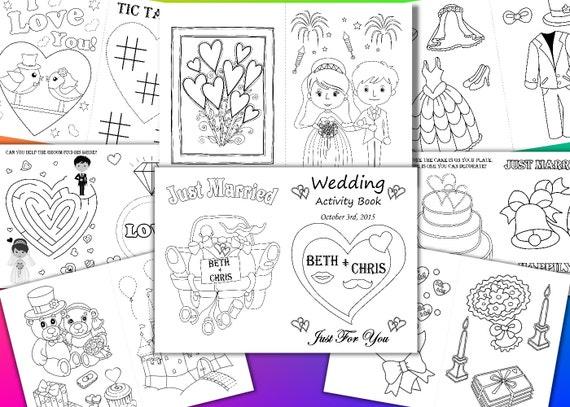 Boda dibujos para colorear niños boda libro de actividades