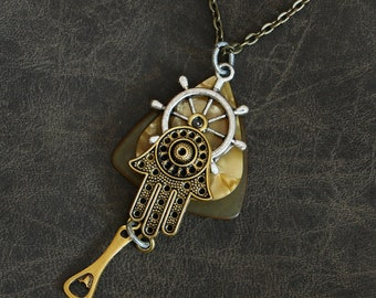 Guitar Pick Necklace - Fortunately Lucky