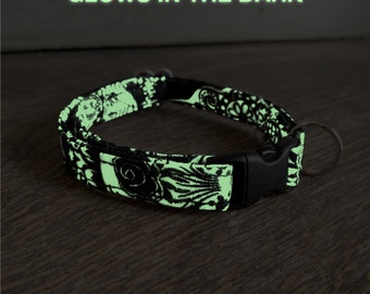 Cat - Calaveras phosphorescent collar