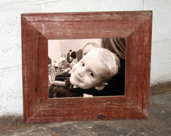 "8x10 RED Barn Wood [Thin x 3""] Picture Frame"