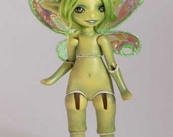 green fairy porcelain bjd art doll,  Meka 36/50 by ladymeow