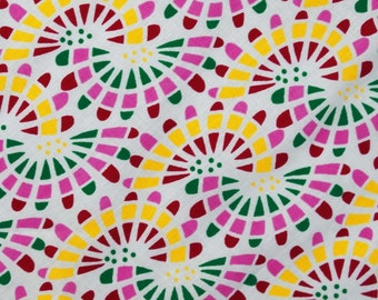 """White Color Pure Cotton Indian Fabric 41"""" Wide Sewing Crafting Abstract Printed Pattern Dress Making Fabric Material By The 1 Yard ZBC5606"""