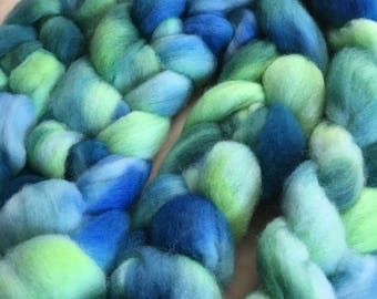 Sneaky ,4.0 ounces handpainted Polwarth Top for spinning and felting