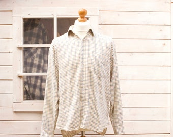 Vintage Long Sleeved Hoggs Of Fife Checked Shirt Size - Large