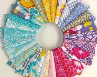 Atrium Fat Quarter Bundle by Joel Dewberry (26 FQs) - Free Spirit Fabric (Modern, geometric, floral)
