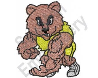 Bear Wrestler - Machine Embroidery Design, Wrestler, Wrestling, Bear
