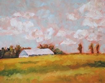 Landscape Farm Painting - Original Oil Painting - Desert Landscape - 16 x 20