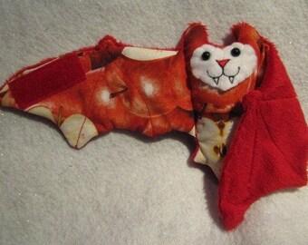 Red Apple Bat Cup Sleeve, Coffee Cozy, Stuffed Animal