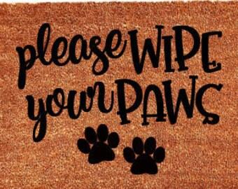 Please Wipe Your Paws Door Mat