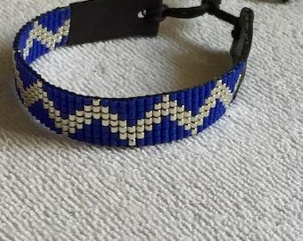 Blue silver miyuki delica bracelet!