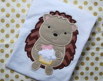 Hedgehog Birthday Shirt, Girl Hedgehog Shirt
