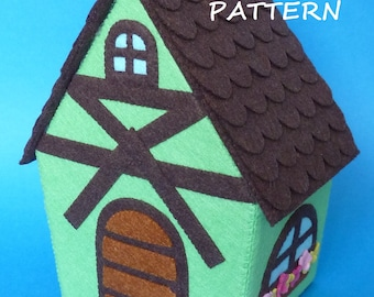PDF pattern to make a felt house.