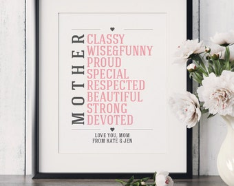 Personalized Gift for Mom Mother of the Bride Gift from Daughter for Mom Gift for Mother Mother Gift from Kids Thank you Gift for Mom