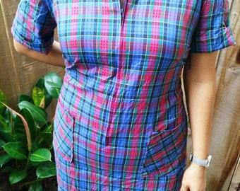 Vintage 60's Sears Zip&Dash shift dress.