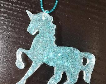 Resin necklace, Unicorn, Fairy Kei, Pastel Goth
