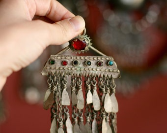 Vintage Kuchi Kochi Koochi Dangle Pendant ATS Tribal Fusion Belly Dance Accessory