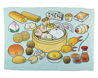 Dim Sum Dish Cloth Dim Sum Dish Towel Dim Sum Hand Towel Dim Sum Kitchen Towel Gift Chinese Hand Towel Gift Chinese Towel Chinese Kitchen