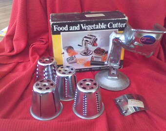 Townecraft food chopper made in the USA Home canning  food processer kitchen cooking  slice chop shred