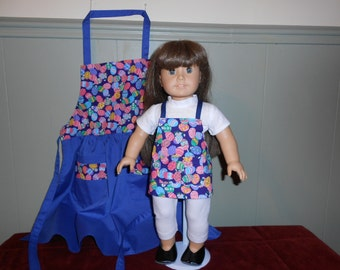 Easter Egg print American Girl apron set