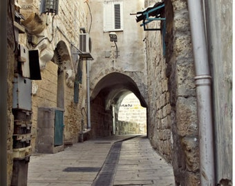 Antique street - wall decor Israel photography - Fine art for any place - canvas or paper print in sizes 8x12, 12x18, 18x24 or 24x36