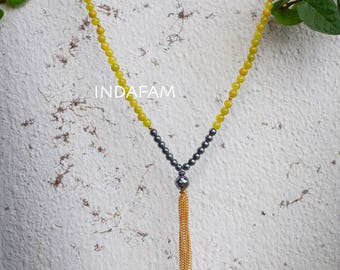 Tassels 2 strands Stone beads Necklace