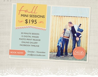 Fall Mini Session Template for Photographers - MS05