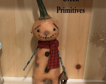 Primitive Pumpkin|Folk Art Pumpkin|Pumpkin Art Doll|Primitive Autumn|Primitive Fall|Handmade Fall|Jack O Lantern|Handmade Pumpkin Head Doll
