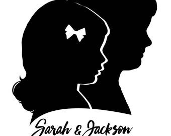 Custom silhouettes, digital or cut print